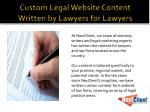 custom legal website content written by lawyers for lawyers