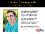the nextclient approach from start to finish