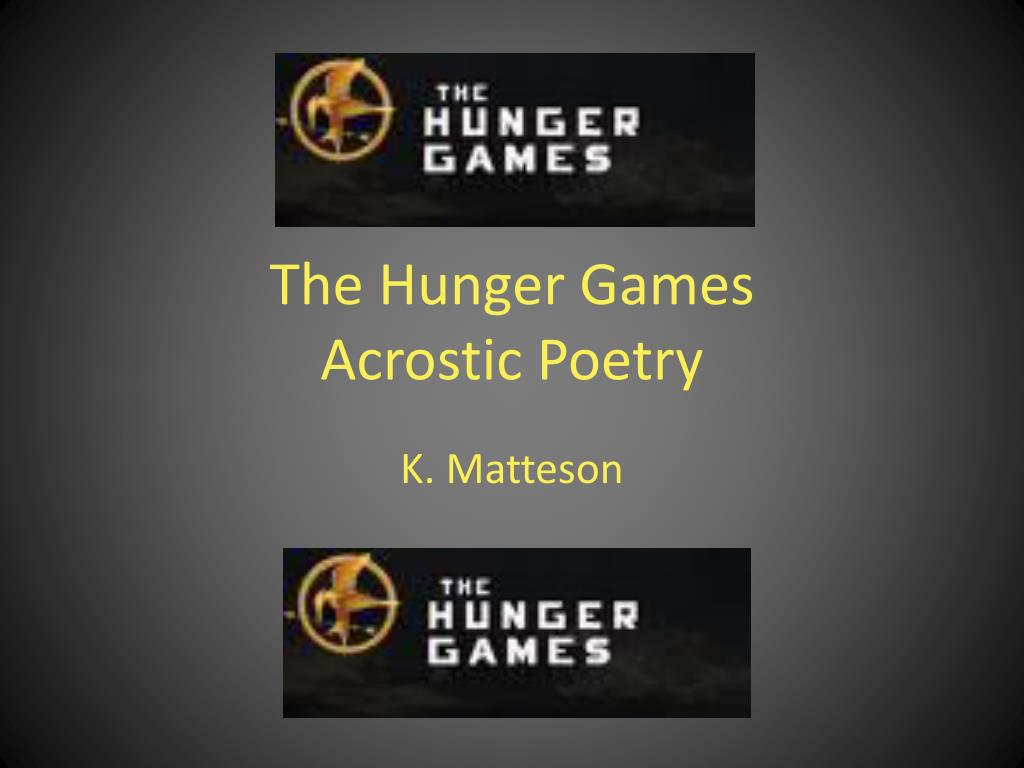 the hunger games acrostic poetry l.