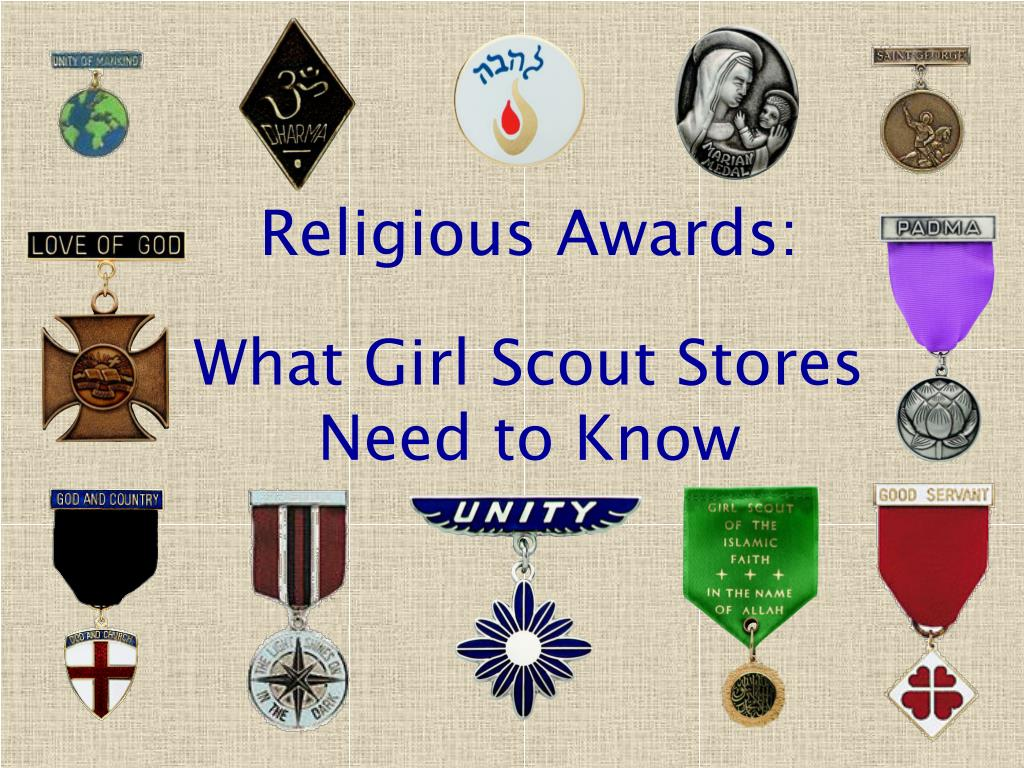religious awards what girl scout stores need to know l.