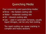quenching media