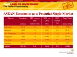 asean economies as a potential single market