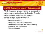 asean supporting industry database asid