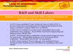 r d and skill labors