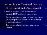 according to chartered institute of personnel and development