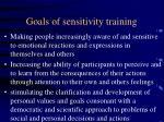 goals of sensitivity training