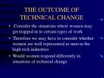 the outcome of technical change7