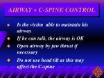 airway c spine control