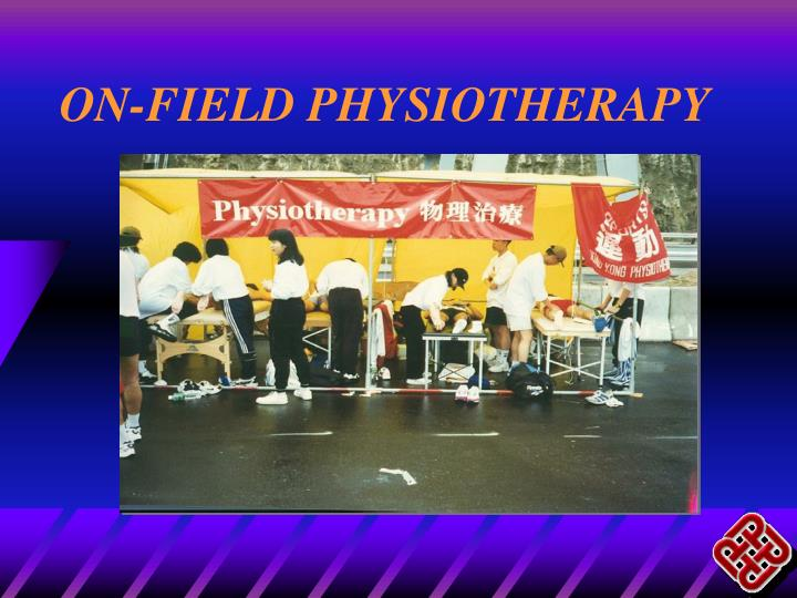 on field physiotherapy n.