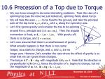 10 6 precession of a top due to torque
