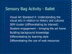 sensory bag activity ballet9