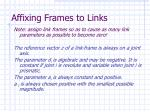 affixing frames to links29