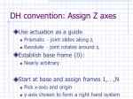 dh convention assign z axes60