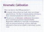 kinematic calibration