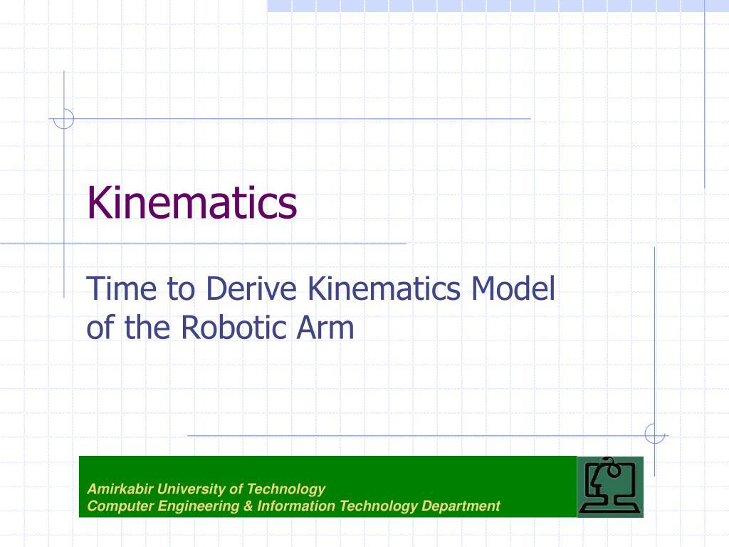 kinematics l.