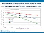 an econometric analysis of what it would take