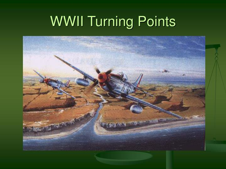 wwii turning points n.