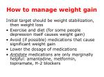 how to manage weight gain