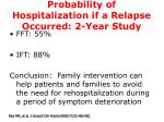 probability of hospitalization if a relapse occurred 2 year study