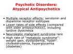 psychotic disorders atypical antipsychotics