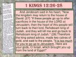 1 kings 12 26 28