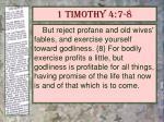 1 timothy 4 7 8
