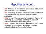 hypotheses cont