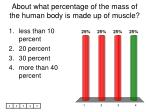 about what percentage of the mass of the human body is made up of muscle