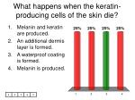 what happens when the keratin producing cells of the skin die