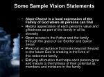 some sample vision statements