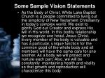some sample vision statements27