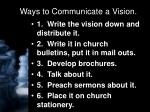 ways to communicate a vision