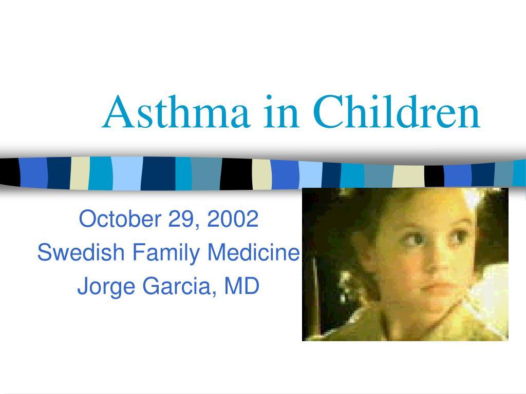 asthma in children l.