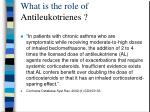 what is the role of antileukotrienes
