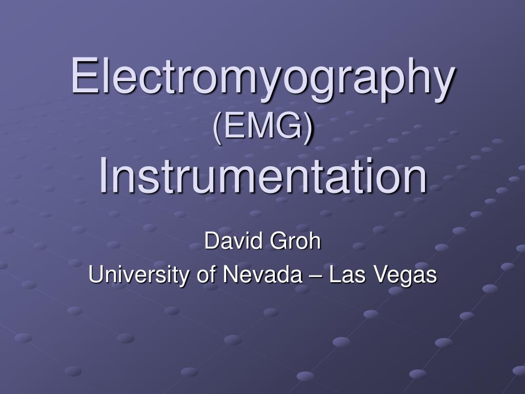 electromyography emg instrumentation l.