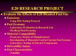 e20 research project16