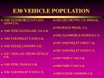 e30 vehicle population