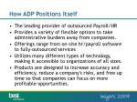 how adp positions itself