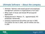 ultimate software about the company