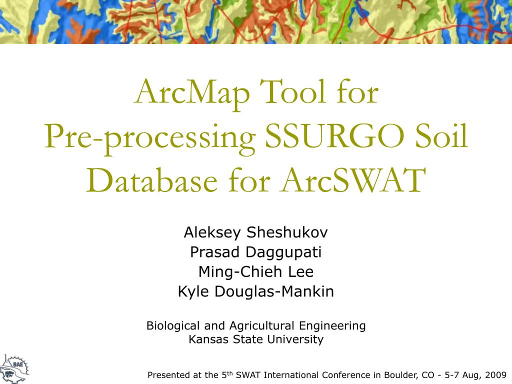 arcmap tool for pre processing ssurgo soil database for arcswat l.