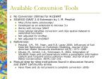 available conversion tools