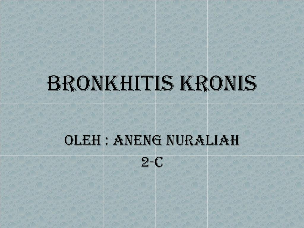 bronkhitis kronis l.