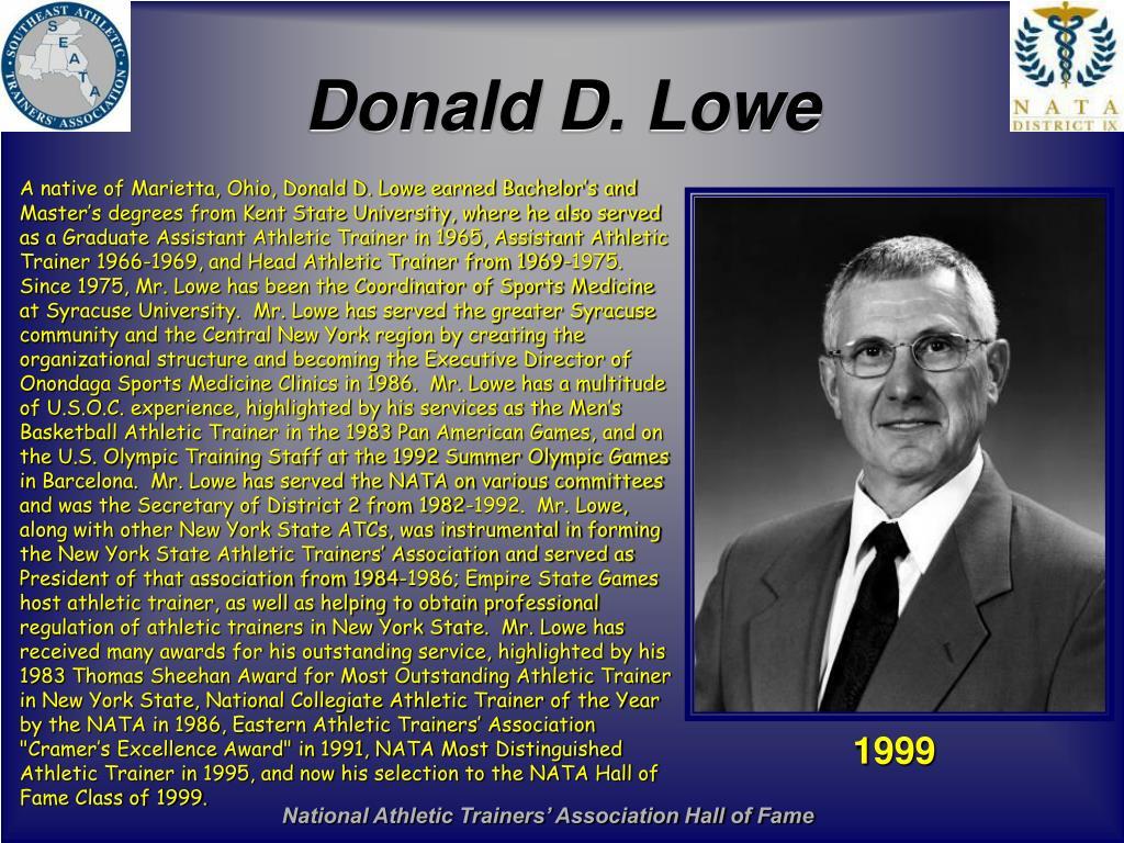 Donald D. Lowe