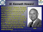 m kenneth howard