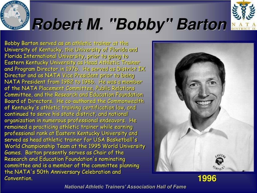 "Robert M. ""Bobby"" Barton"