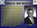 william h bill mcdonald