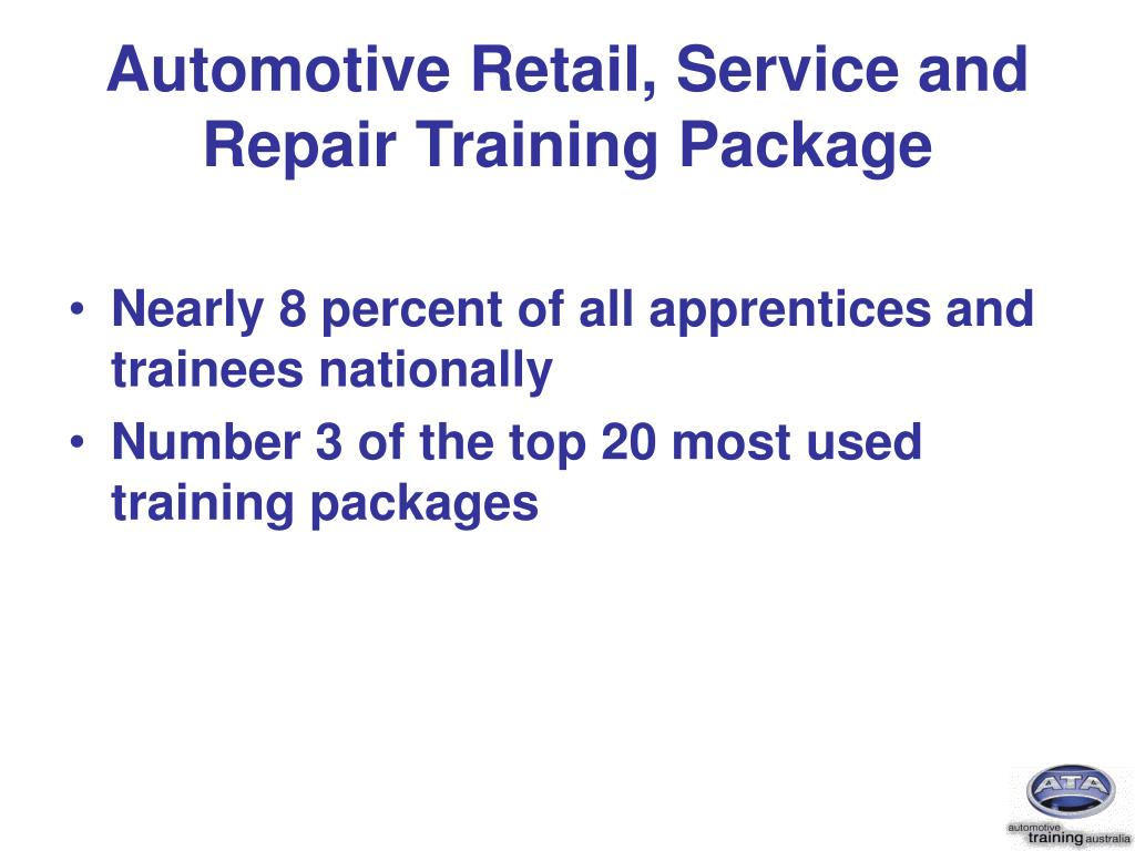 Automotive Retail, Service and Repair Training Package