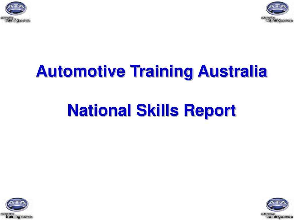 automotive training australia national skills report l.