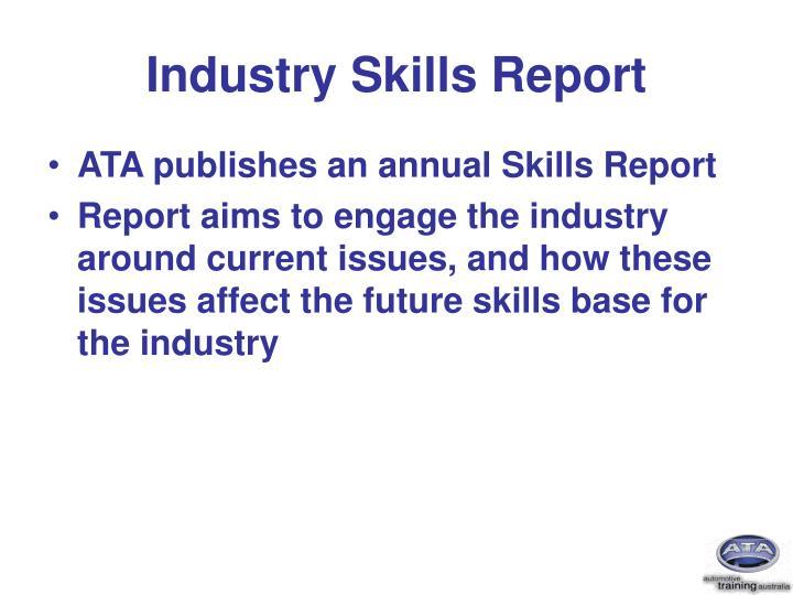 Industry skills report
