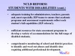 nclb reform students with disabilities cont
